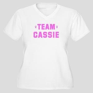 Team CASSIE Women's Plus Size V-Neck T-Shirt
