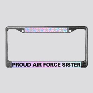 Proud Air Force Sister License Plate Frame