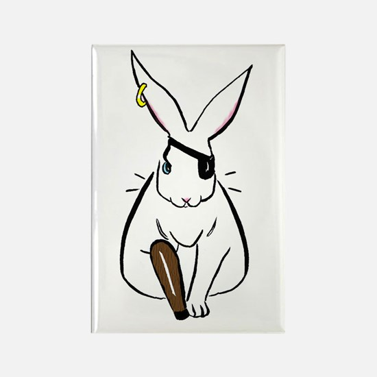 Pirate Bun Rectangle Magnet