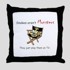 Movie Monster Throw Pillow
