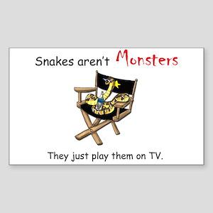 Movie Monster Rectangle Sticker