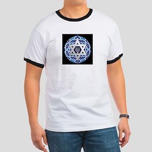 JEWISH STAR AND MENORAH T-Shirt