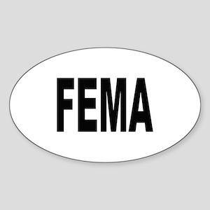 FEMA Oval Sticker