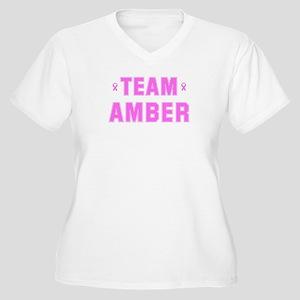 Team AMBER Women's Plus Size V-Neck T-Shirt