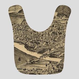 Vintage Map of Corning New York Polyester Baby Bib