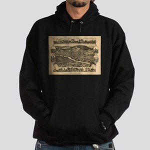 Vintage Map of Corning New York (1882) Sweatshirt