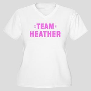 Team HEATHER Women's Plus Size V-Neck T-Shirt