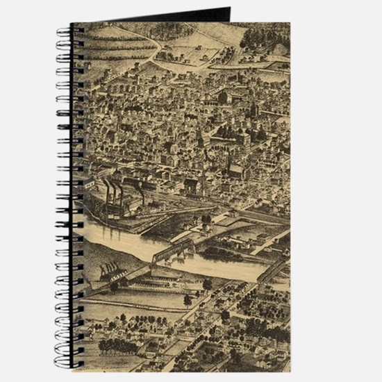 Vintage Map of Corning New York (1882) Journal