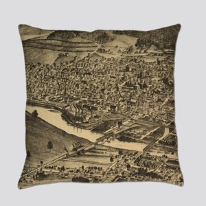 Vintage Map of Corning New York (1 Everyday Pillow
