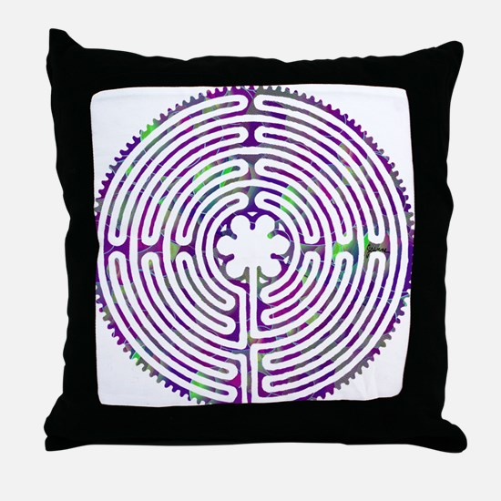 Chartres Labyrinth Bubble Throw Pillow