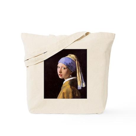 Vermeer Pearl Earring Tote Bag