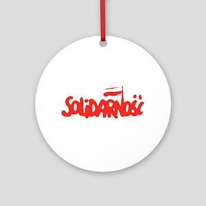 Solidarnosc Ornament (Round)