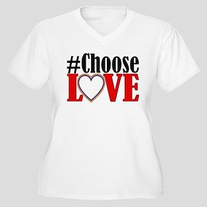 Choose Love Heart Plus Size T-Shirt