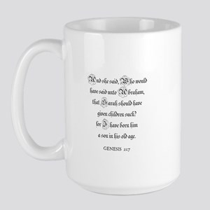 GENESIS  21:7 Large Mug