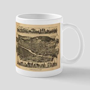 Vintage Map of Corning New York (1882) Mugs