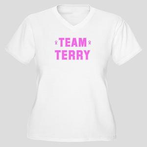 Team TERRY Women's Plus Size V-Neck T-Shirt