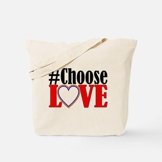Choose Love Heart Tote Bag