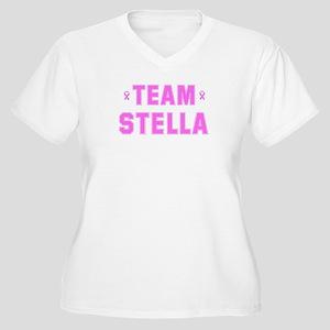 Team STELLA Women's Plus Size V-Neck T-Shirt