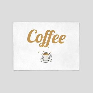 Coffee Lover Coffee Mom Coffee Birt 5'x7'Area Rug