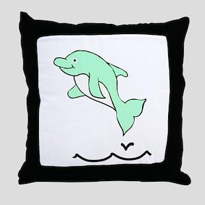Darla The Dolphin Throw Pillow