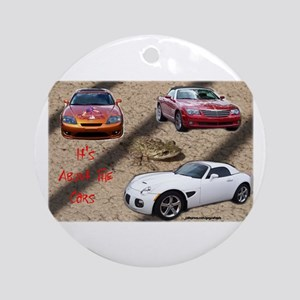 ALL ABOUT THE CARS Ornament (Round)