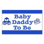 Baby Daddy to Be Rectangle Sticker