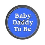 Baby Daddy to Be Wall Clock
