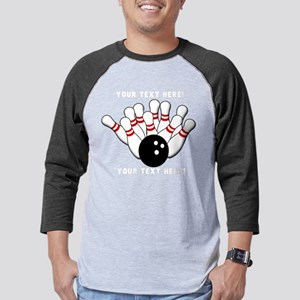 Personalized Original Bowling Mens Baseball Tee