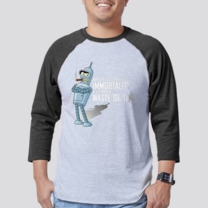 Futurama Bender Immortality Dark Mens Baseball Tee