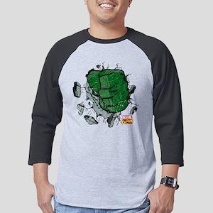 Hulk Fist Dark Mens Baseball Tee