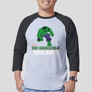 Personalized Incredible Hulk Mens Baseball Tee