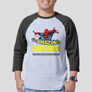 Personalized Amazing Spiderman Mens Baseball Tee