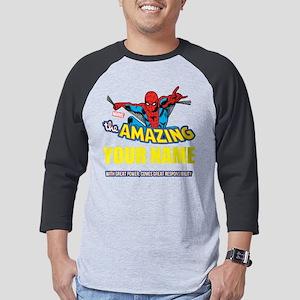 Personalized Amazing Spiderman Mens Baseball Tee
