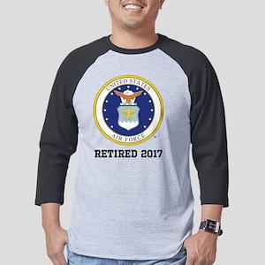 Personalized Air Force Retiremen Mens Baseball Tee