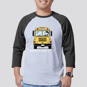 Snoopy - This Is How I Roll Mens Baseball Tee