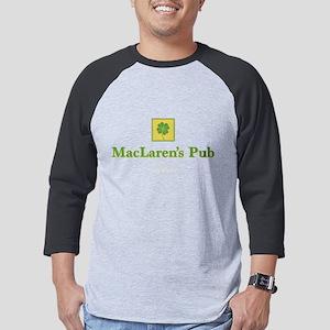 HIMYM MacLaren's Pub Clover Dark Mens Baseball Tee