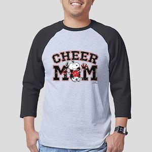 Snoopy - Cheer Mom Mens Baseball Tee