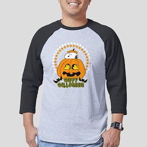 SnoopyPumpkin-Dark Mens Baseball Tee