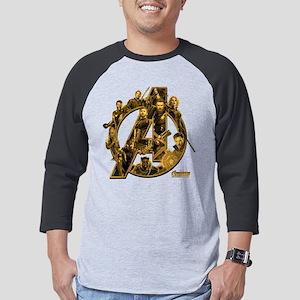 Avengers Infinity War Gold Mens Baseball Tee