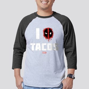 Deadpool Tacos Dark Mens Baseball Tee