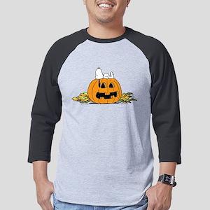Snoopy  Jack-o-lantern Mens Baseball Tee