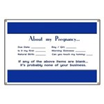 About My Pregnancy Fill-In Form Banner