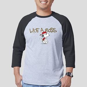 Peanuts Snoopy Like A Boss Dark Mens Baseball Tee