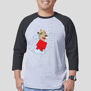 Flying Ace Santa Dark Mens Baseball Tee