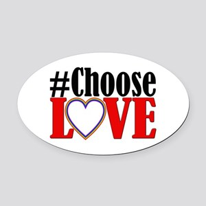 Choose Love Heart Oval Car Magnet