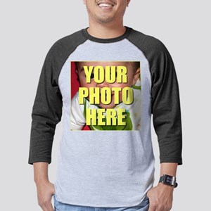 Custom Photo Personalized Mens Baseball Tee