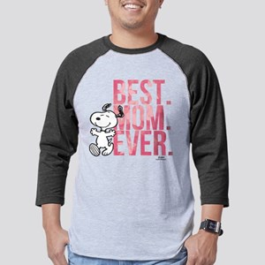 Snoopy -Best Mom Ever Mens Baseball Tee