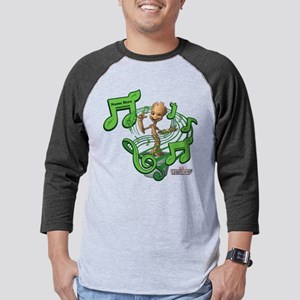 GOTG Personalized Musical Groot Mens Baseball Tee