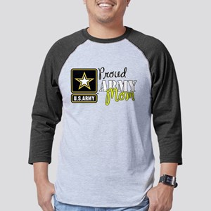 Proud Army Mom Mens Baseball Tee