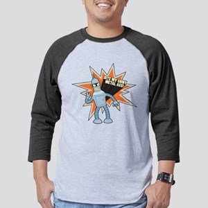 Bender Bite Dark Mens Baseball Tee